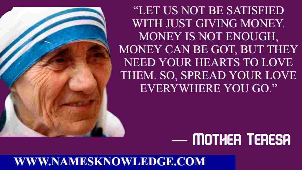 Mother Teresa Quotes on Giving