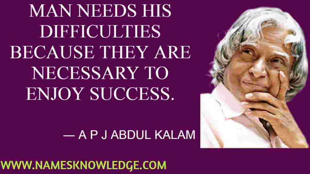 A P J Abdul Kalam Quotes on Success