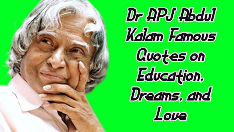 Dr APJ Abdul Kalam Famous Quotes