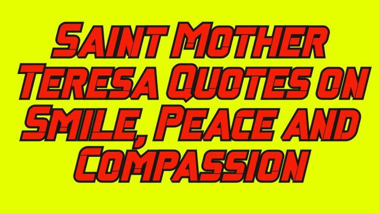 Saint Mother Teresa Quotes
