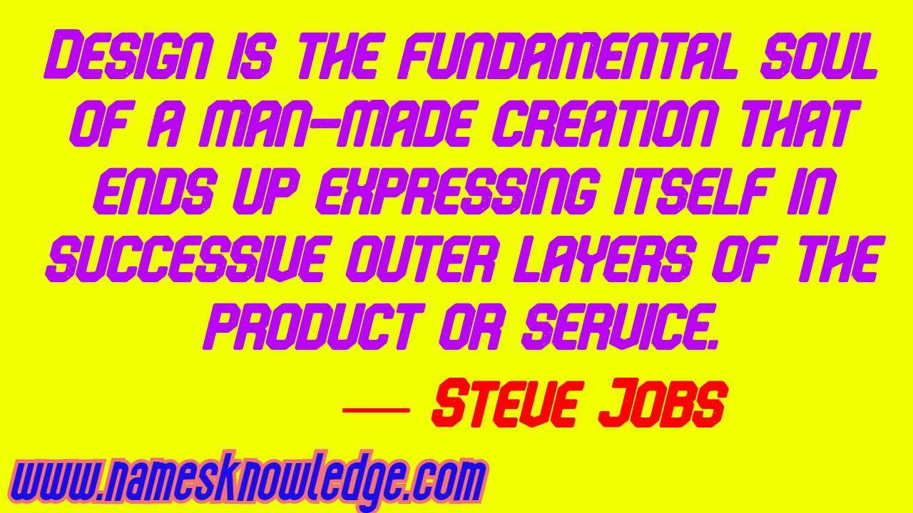 Steve Jobs Quotes on Design
