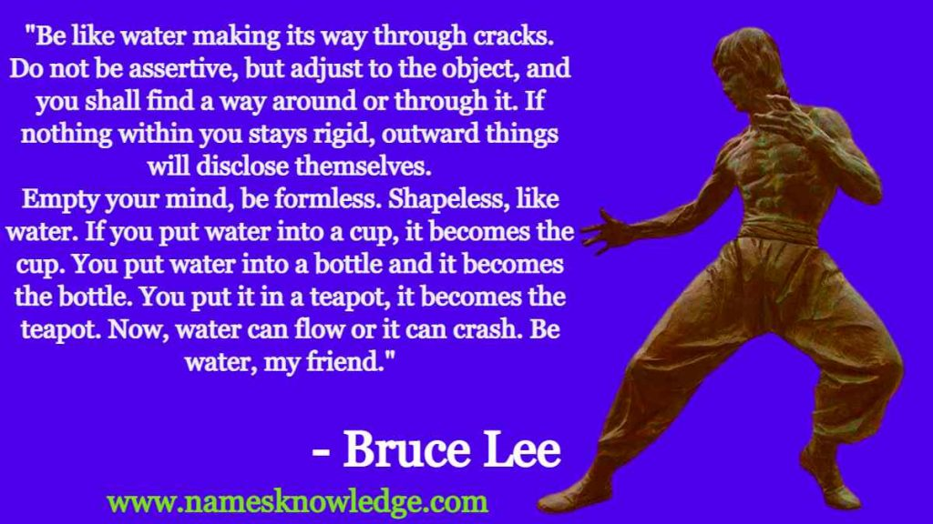Bruce Lee Quotes - Be Like Water