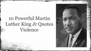 Martin Luther King Jr Quotes Violence