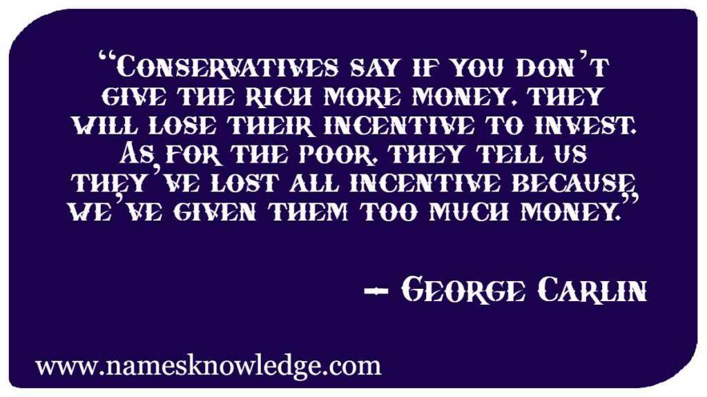 George Carlin Quotes on Politics