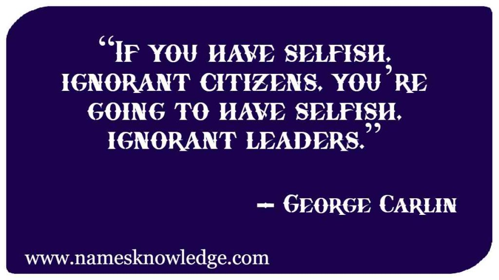 George Carlin Quotes on Politics and Government
