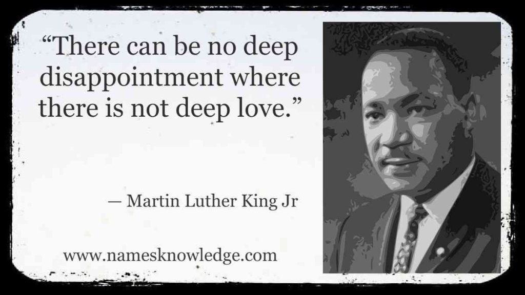 """""""There can be no deep disappointment where there is not deep love."""""""