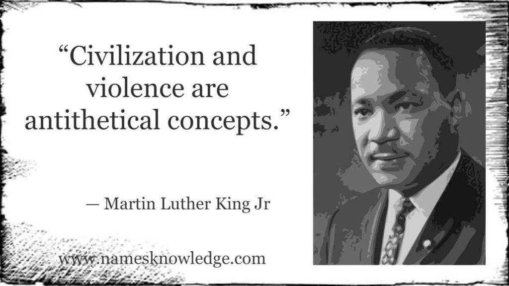 """""""Civilization and violence are antithetical concepts."""""""