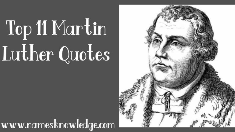 Top 11 Martin Luther Quotes